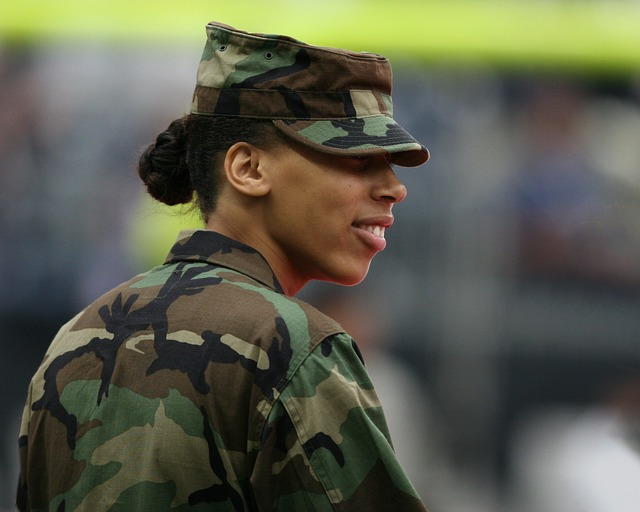 A woman in the military