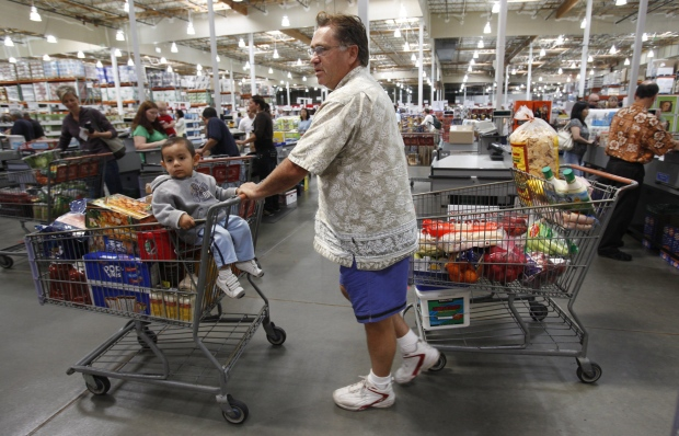 typical Costco shopper earns $30,000 to $40,000 more than average